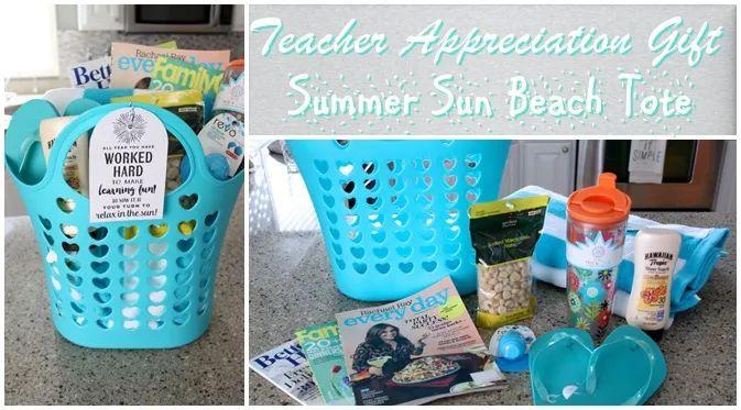 Teacher Appreciation Gift Summer Sun Beach Tote